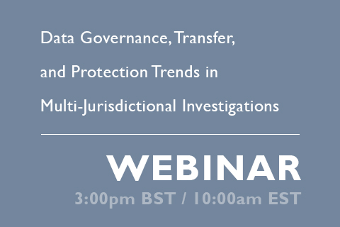 FRA GIR Webinar data governance, transfer, protection