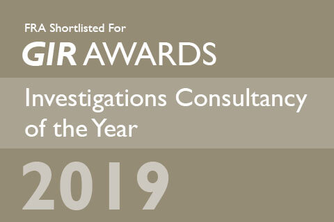 FRA Shortlisted for Investigations Consultancy of the Year 2019