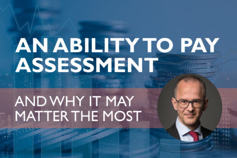 An ability to pay assessment