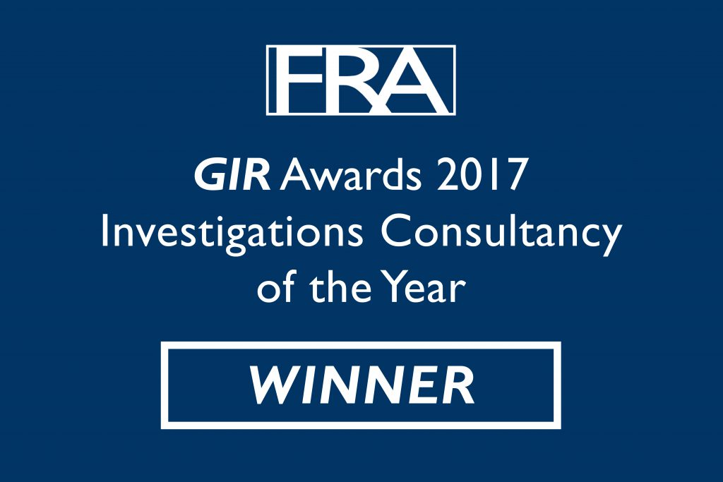 FRA wins Investigations Consultancy of the Year
