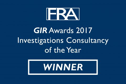 FRA Investigations Consultancy of the Year 2017 GIR Awards