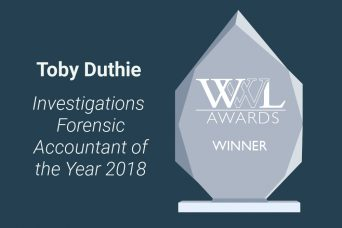 Toby Duthie Investigations Forensic Accountant of the Year 2018