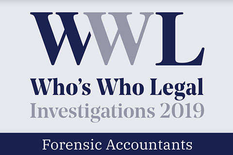 FRA leadership in Who's Who Legal: Investigations – Forensic Accountants